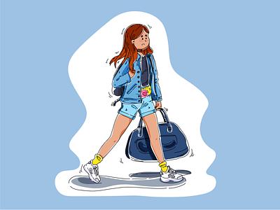 It's me dream girl dribbble vector illustration vector fly art illustration illustrator
