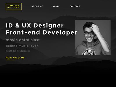 Personal portfolio website minimal webdesign portfolio