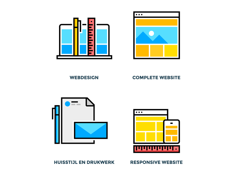 Service Icons icons illustration flat