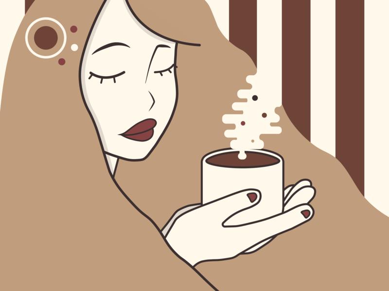 Coffee Girl design illustration