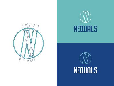 Neaquals illustration icon vector logo flat design branding