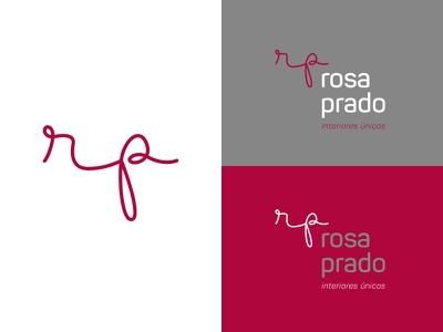 Rosa Prado minimal lettering vector flat logo design branding
