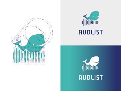 Audlist app ux ui minimal illustration flat vector logo design branding