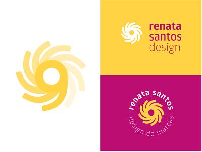 Renata Santos Personal Brand energy sun minimal flat icon vector design logo branding
