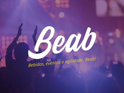Beab lettering flat logo design branding
