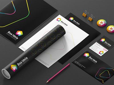 Boa Ideia Entretenimento vector flat logo design branding