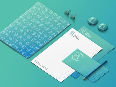Bota no Cérebro vector logo flat design branding