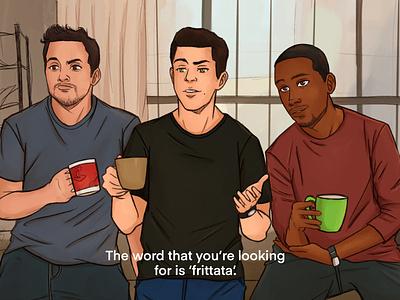 """Fritatta"" tv show procreate graphic design design fanart illustration digital painting digital illustration"