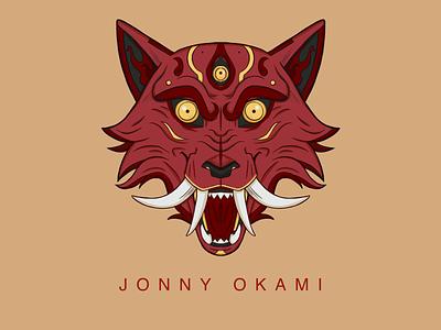 Wolf Oni Mask twitch logo branding logo photoshop procreate illustration graphic design digital illustration design digital painting