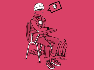 Bored to Death procreate inktober doodle graphic design illustration digital painting digital illustration
