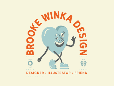 Brooke Winka Design vector procreate design cute cute illustration badge design badge logo badge logo new happy identity design brand design brand