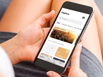 Travel app concept