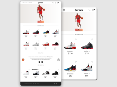 """Online-Store Website Concept """"Jordan"""""""