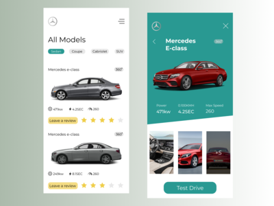 Mercedes Responsive page