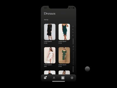 E-Commerce Application branding graphic animation user experience design user interface design ux ui ecommerce redesign rebound pattern online minimal interface dribbble design ios apple app 2d