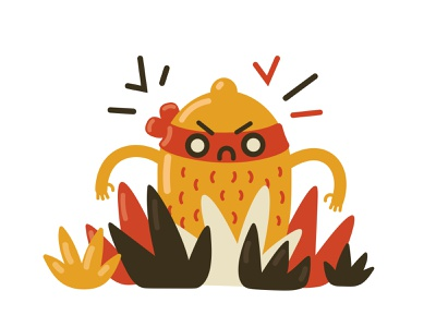 Hello, Dribbble! icons8 hello dribble web angry fun red lemon vector design illustration