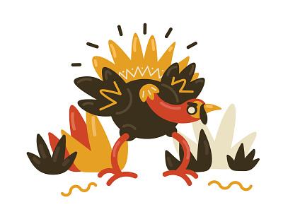 Saucy Turkey Illustration simple 2d illustration flat saucy turkey stile color web vector illustration icons8 fun design