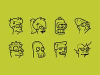 Futurama icons set