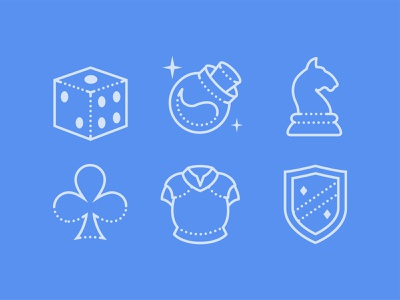Dotted Icons of Gaming gaming ui icon set icons8 illustration web design vector