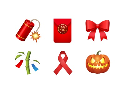 Emoji - Set event tanabata tree reminder ribbon ribbon red envelope firecracker event emoji set emoji icon set color icons8 fun illustration vector design