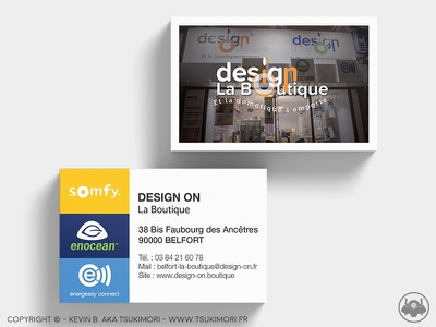 Business Card - Design On print carte carte de visite business card card branding