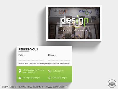 Business Card - Design On Pro print carte carte de visite business card card branding