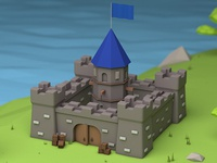 Castle in Low Poly