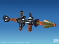 Rocket launcher with Cinema 4D