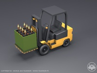 Forklift with Cinema 4D