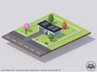 Simple house with Cinema 4D