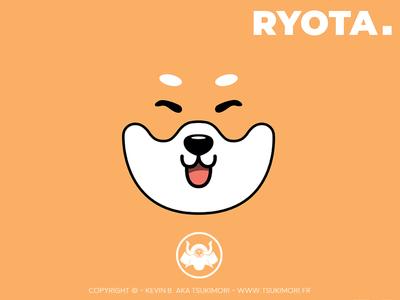 DDD #04 - Minimalist Wallpaper with Ryota minimalist wallpaper shiba inu dog mascot vector illustrator illustration