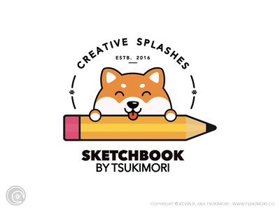 Logo - Sketchbook Tsukimori branding blog shiba inu dog cute vector illustrator mascot design illustration logo