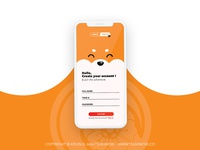 Sign Up on an app - Daily UI 001