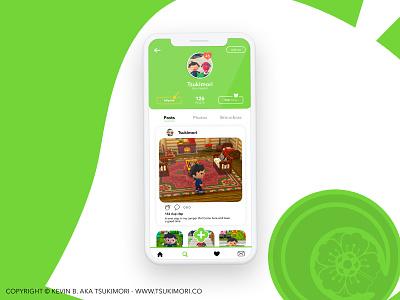 User profile for Animal Crossing - Daily UI 006 daily ui dailyui user profile user uxdesign ux design uidesign ui design uxui uiux ux ui