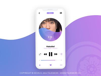 Music player - Daily UI 009 player music player music daily ui dailyui ux design uxdesign ui design uidesign uxui uiux ux ui