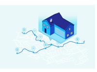 Find you home Real Estate Illustration.