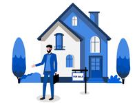Real Estate Agent Illustration.