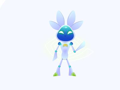 NVIDIA Mascot unofficial cute robot branding flatdesign vector design logo mascotlogo illustration vector illustration