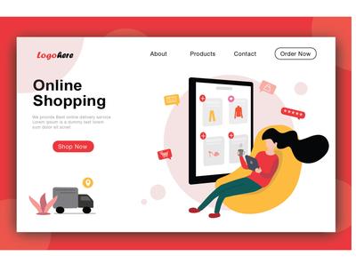 Shop Online Web Illustration