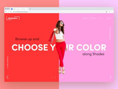 WoNation- A women's fashion crafting website(prt 3 homepage)