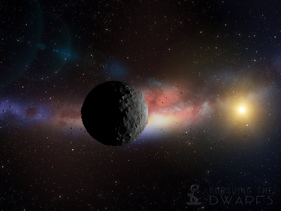 Ceres In Solace maya universe space sun asteroid belt fisheye 3d astronomy solar system ceres dwarf planet