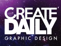 CreateDaily Graphic Design Logo