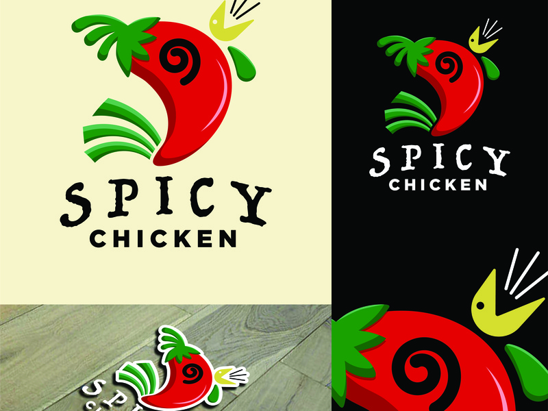 Spicy Chicken Logo illustration logo design branding