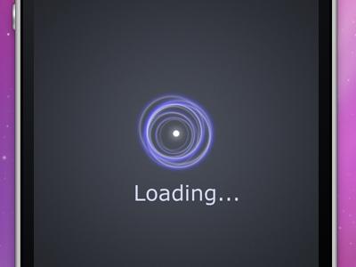 You are getting sleepy... iphone loading spinner toy dark purple haze