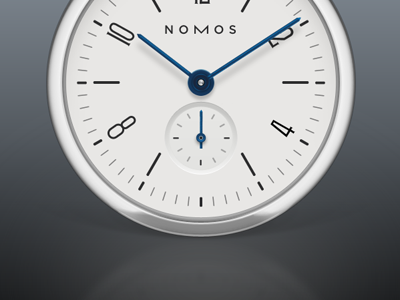 Nomos metal white photoshop watch nomos time clock