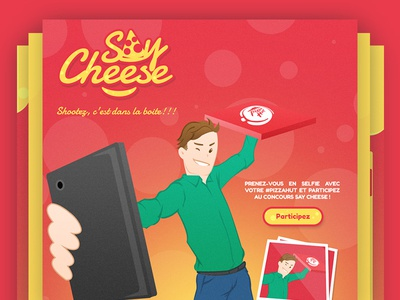 Say Cheese by pizza hut, Facebook app & Branding