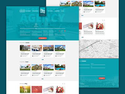 Advalue - Real Estate  website website ux ui real estate interface immobilier blue