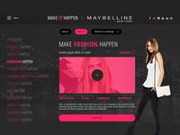 Make It Happen by Maybelline - Website