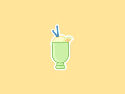Lemon Slushy Sticker ui drink tasty sweet cute icon illustration sticker lemon slushy