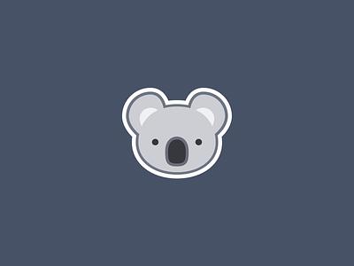 Koala face sticker cuddly icon illustration beautiful pastel chubby flat sweet cute sticker koala baby